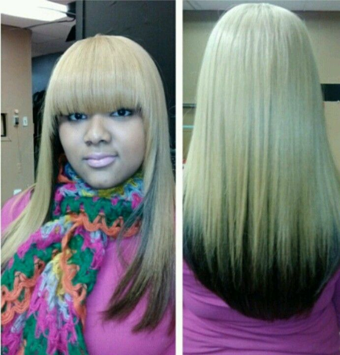 black haircuts pretty colored wrap weave hair snatched 4286