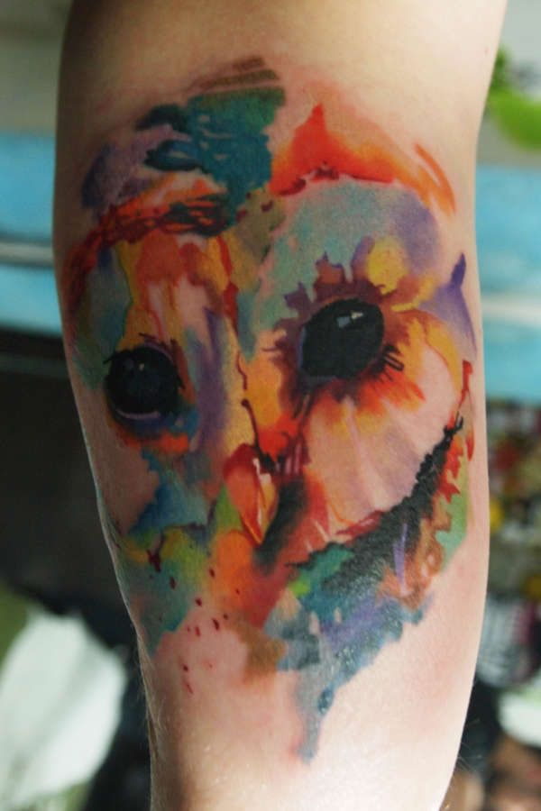 Watercolor Owl tattooThis is so awesome, GREAT work!!!