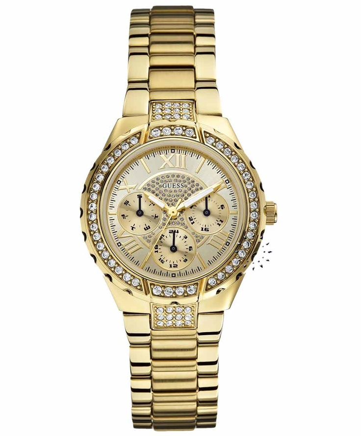 GUESS Vivacious Crystal Gold Stainless Steel Bracelet Μοντέλο: W0111L2 Τιμή: 173€ http://www.oroloi.gr/product_info.php?products_id=31730