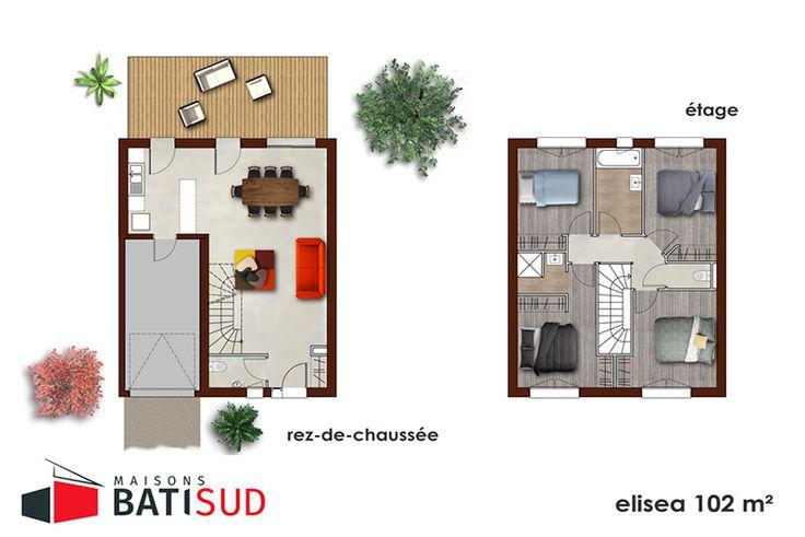 MODÈLE ELISÉA en 2020 | Maison, Maison bordeaux, Maison 100m2