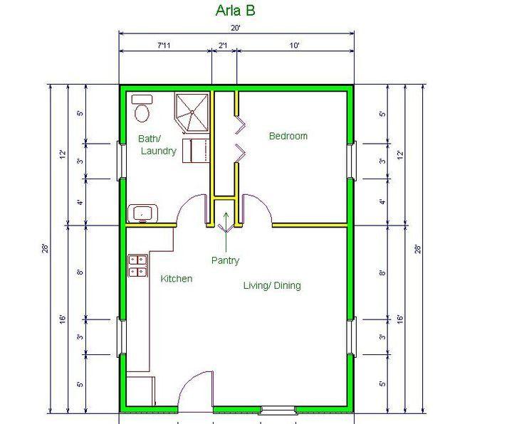 20 X 20 Tiny House Plans Wonderful 20 X20 Apt Floor Plan Garage Apartment Floor Plans Floor Plans Apartment Floor Plan