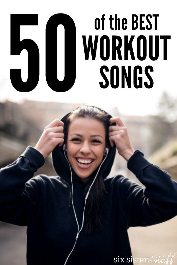 50 of the Best Workout Songs on SixSistersStuff.com | Use these great workout playlist ideas to give you a little extra motivation during your workout!