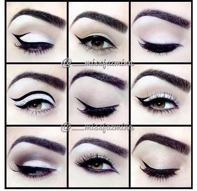 Different eyeliner styles by @missjazmina on IG | Make Up ...