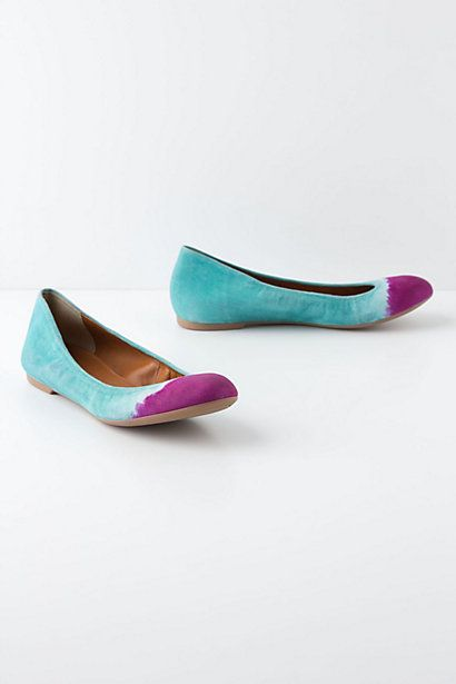 Handpainted Taika Flats - Anthropologie.com: Colors Combos, Colors Plea, Dips Dyed, Taika Flats, Vibrant Colors, Colors Combinations, Anthropologie Com, Handpaint Flats, Handpaint Taika