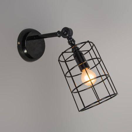 Aplique FRAME C negro - Lámpara de pared muy moderna con una cubierta hecha de fino metal negro. Es de diseño minimalista y permite ver la bombilla que se coloca dentro. Se puede instalar tanto en la pared como en el techo. Detalles: La cubierta es totalmente orientable tanto en vertical como en horizontal.