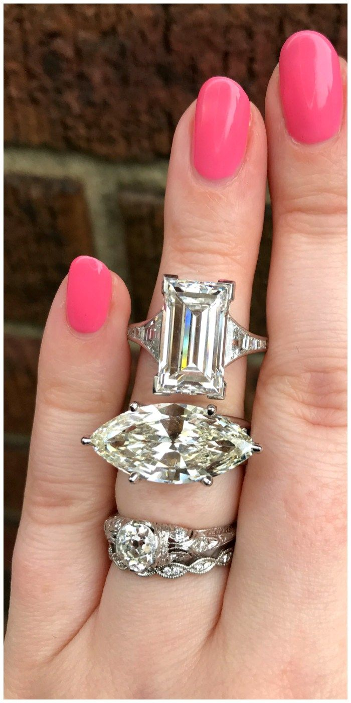 Joden has a HUGE selection of engagement rings, but I think these two were my favorites of the showstoppers. A 6.58 carat emerald cut diamond ring and a 5.95 carat East-West set marquise cut diamond ring!