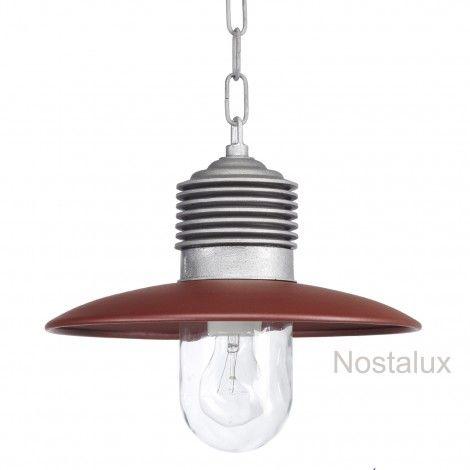 Hanglamp Ampere ketting Alu./Rood   Robuuste kettinglamp, geleverd met ketting (100cm). De deksel is in een trendy kleur rood uitgevoerd. De lamp beschikt over een E27 fitting en is dus LED geschikt. Staat prachtig onder bijvoorbeeld een veranda of prieel. Ook zeer geschikt voor uw buitenkeuken.   Al onze producten zijn CE gekeurd en hebben minimaal 3 jaar fabrieksgarantie.