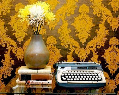 Wallpaper and Typewriter