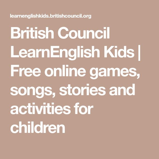 British Council LearnEnglish Kids | Free online games, songs, stories and activities for children