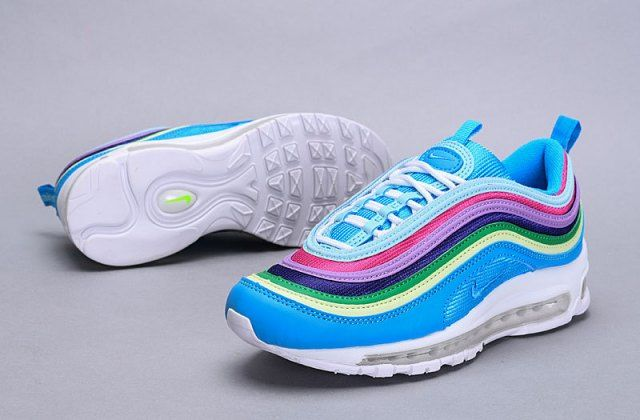 Nike Air Max 97 Blue Multi Color AH6806 100 Sneaker Women's