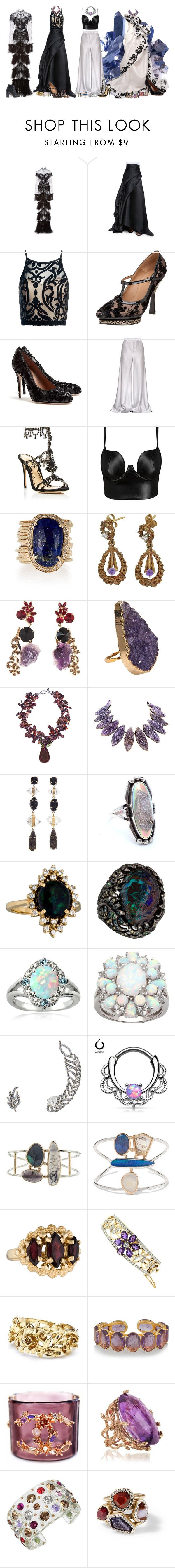 """stone cold"" by fantasia-fashion ❤ liked on Polyvore featuring Jonathan Simkhai, Marchesa, Rubin Singer, Sans Souci, Bally, RED Valentino, Etro, Posh Girl, Jacquie Aiche and Marni"