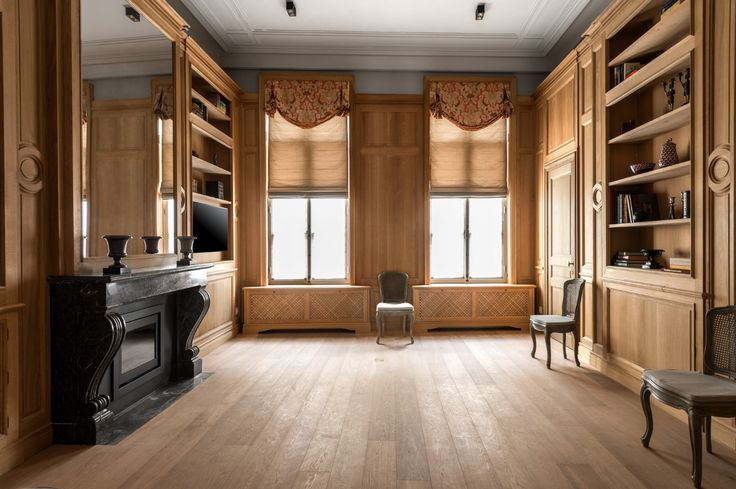 Custom made French oak paneling - Lefèvre Interiors Belgium