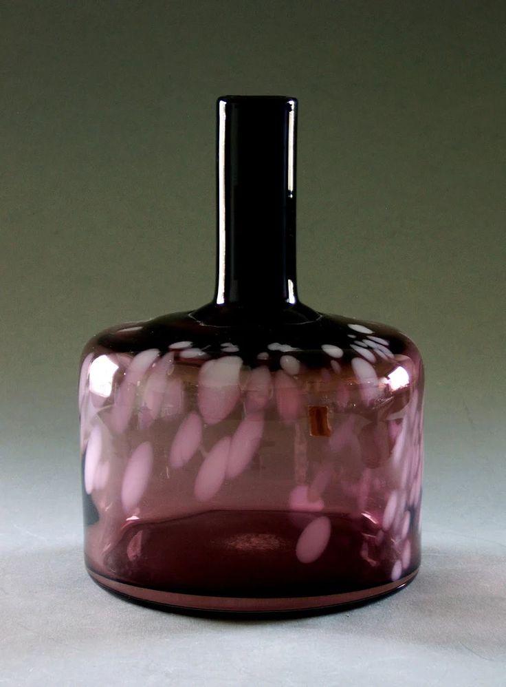 Jaroslav Taraba, glass vase, H:21,0 cm, glassworks Lednicke Rovne LR, Czechoslovakia