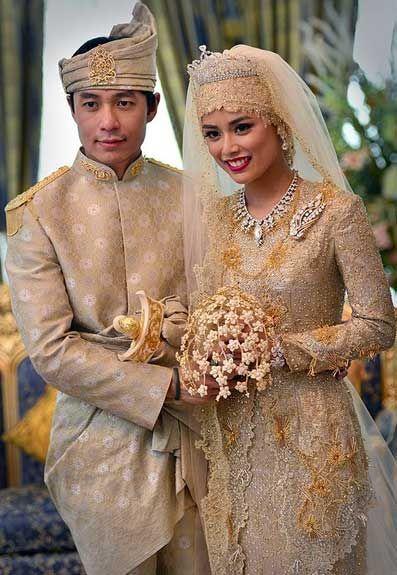 Princess Hafizah Sururul Bolkiah, daughter of Brunei's Sultan Hassanal Bolkiah, married  civil servant Pengiran  Haji Muhammad Ruzaini with week-long festivities (and multiple tiaras) in September 2012.  2