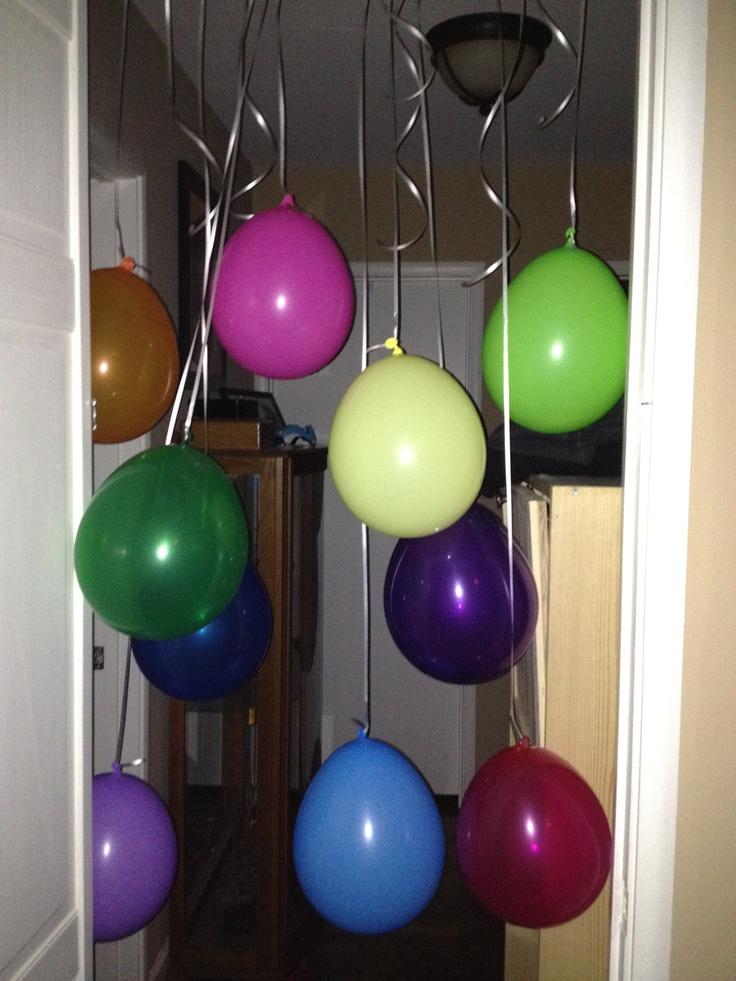 Balloon surprise for birthday morning!