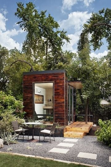 Freestanding studio.  It's not quite a tiny home, but it's a tiny addition to a home.