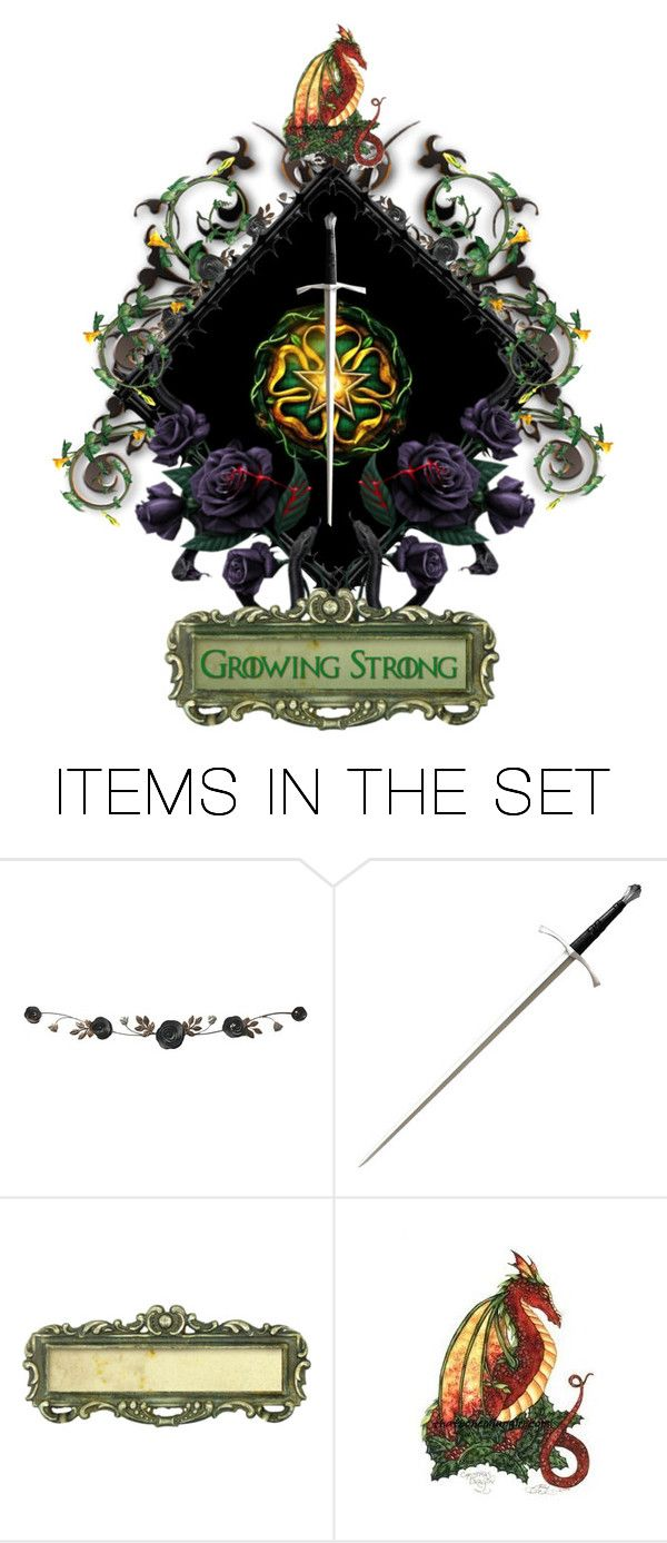 """""""CoA for Lady Olenna Tyrell, after the massacre"""" by annette-heathen ❤ liked on Polyvore featuring art"""