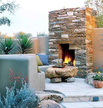 outdoor living room...