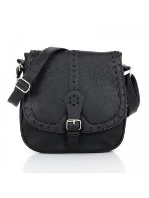 JANINE #STYLIST LADIES #LEATHER #CROSSBODY #BAG BLACK #PrettyStyle