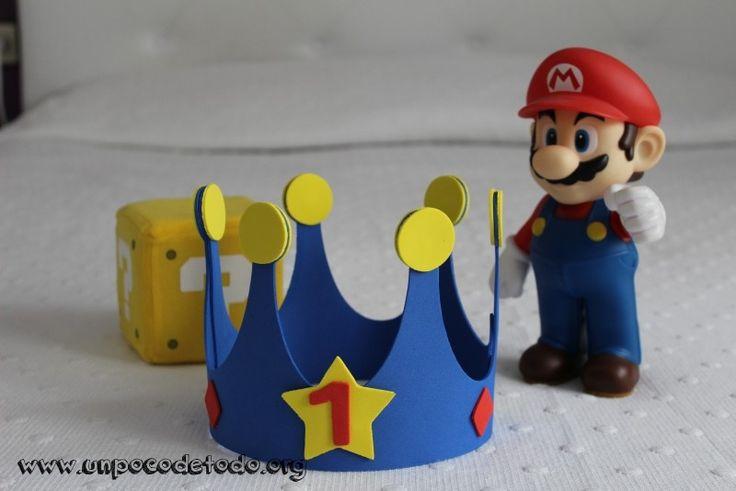 www.unpocodetodo.org - Corona de cumpleaños - Otros - Goma eva - birthday - crafts - cumpleaños - DIY - foami - foamy - manualidades - mario bros - nintendo - 2