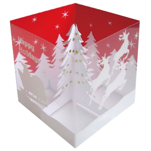 Greeting Life Tree Box Pop Up Christmas Mini Card design:Mini Santa claus size :120mm / 65mm check more Greeting Life products