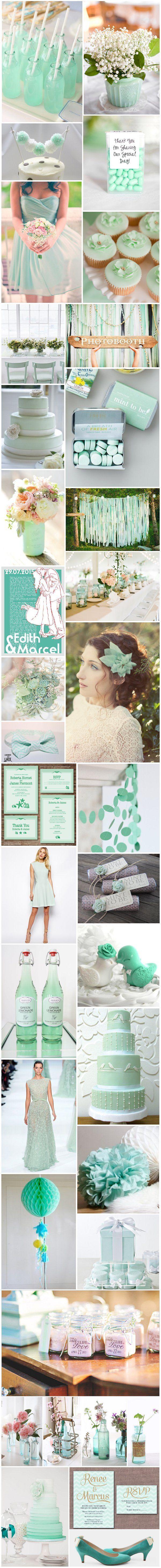 [Inspiration] Mariage vert menthe