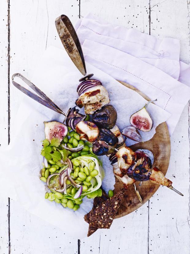 Kyllingspyd med fikener og spisskålsalat
