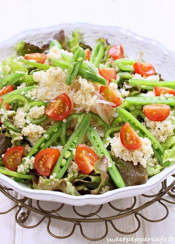 キヌアのサラダ。