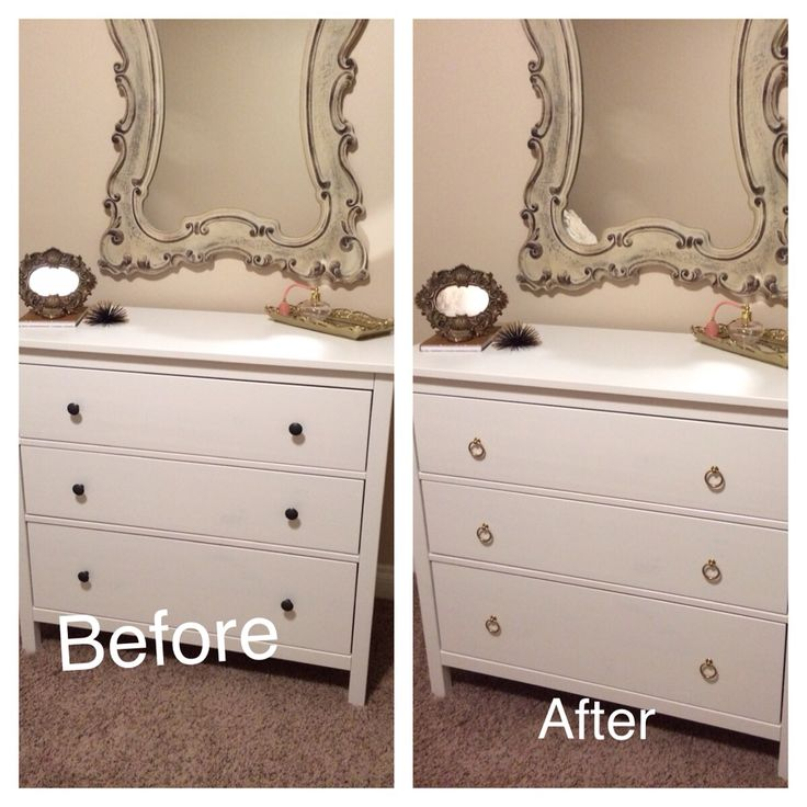 Ikea dresser hemnes with new pull up knobs home for Comoda ikea blanca