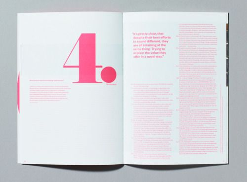 layout with pink type
