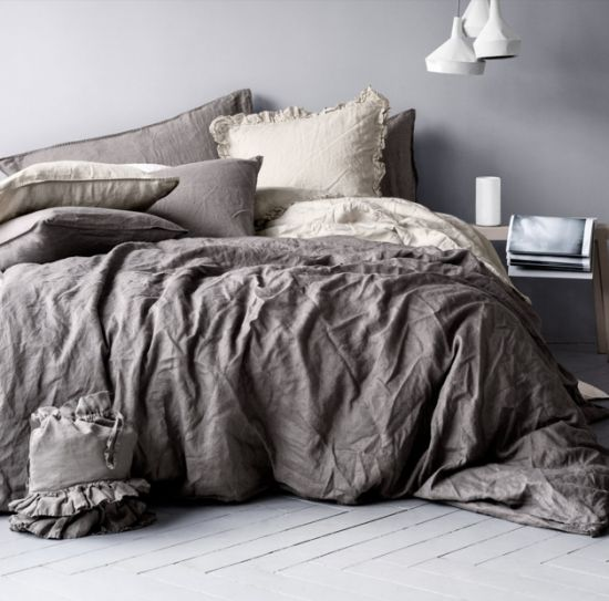 boxwoodclippings_h&m home linen bed