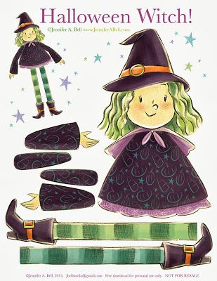 Halloween Witch from We Love To Illustate for Children