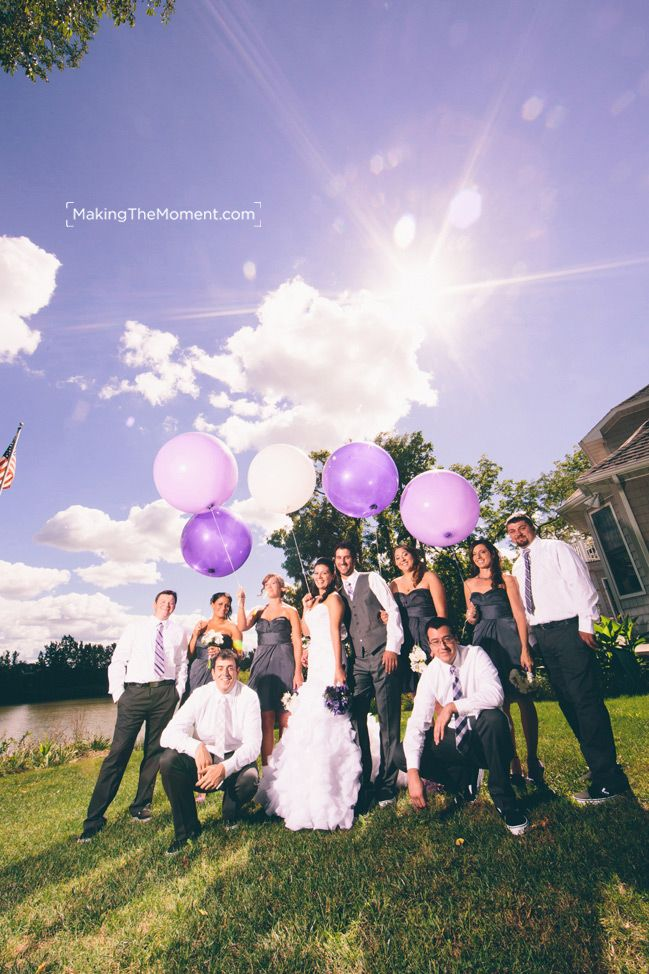 Purple and Grey wedding. @Making the Moment Photography Fun Wedding Photographer in Cleveland