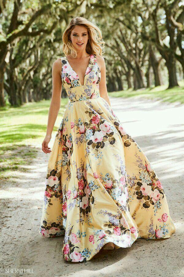 Pin De Monsarte En Vestidos De Festa Vestidos De Flores Largo Vestidos Para Boda En Playa Invitada Vestidos Largos Florales