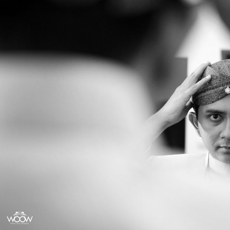The Groom, Black and White, Wedding Day, Traditional, Javanese, Indonesian