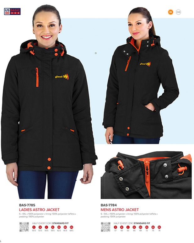 US Basic Astro Ladies winter jacket - Corporate Clothing South Africa