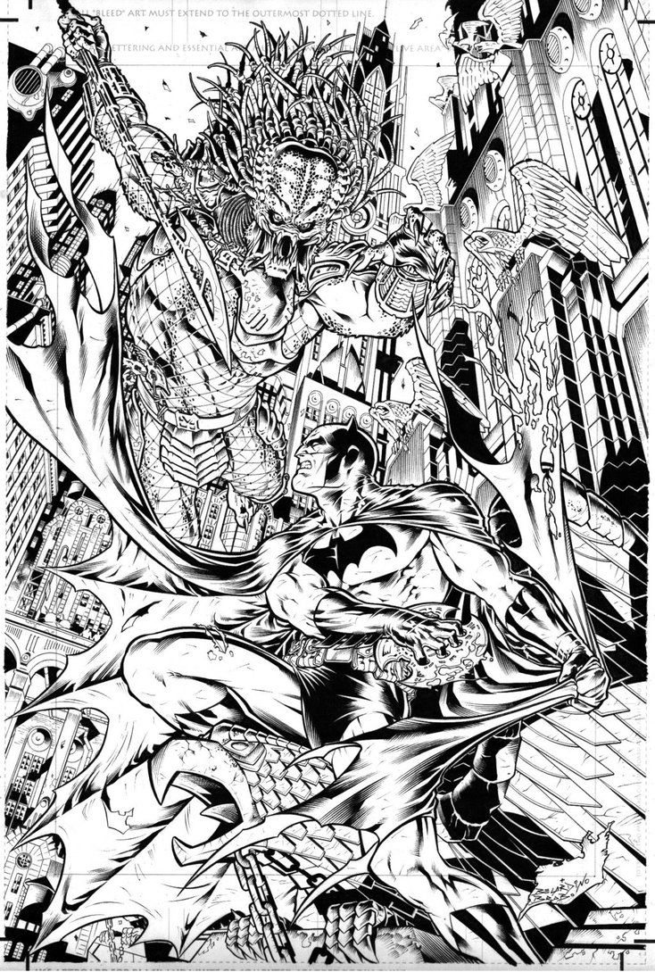 predator vs jason coloring pages - photo#6