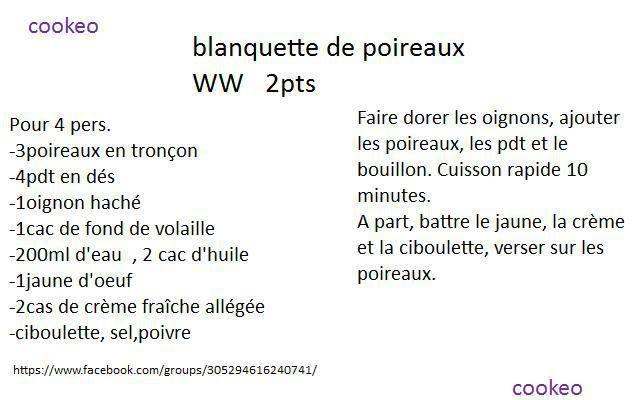 BLANQUETTE DE POIREAUX WW 2PP