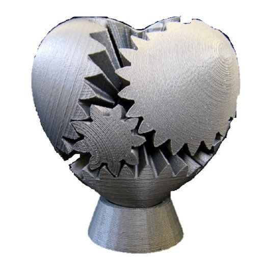 Amazon.com: 3D Printed Rotating Heart Gear, Small, Silver: Emmett Lalish: 3D Printing