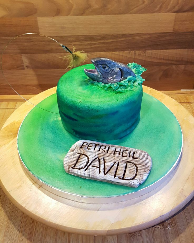 Geburtstag-Erwachsene » Petri heil... Torte Fisch angeln