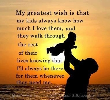 My kids come first.... Always.