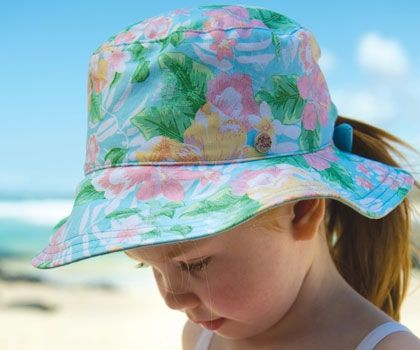 A new one for the girls - Florida Ponytail Reversible. Perfect for the beach or play. It is fully reversible with 2 great styles in one.