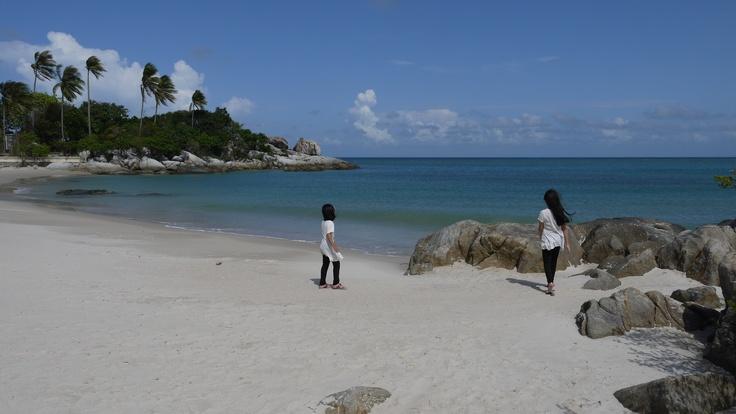 a breathtaking view at parai beach, bangka island ~ indonesia