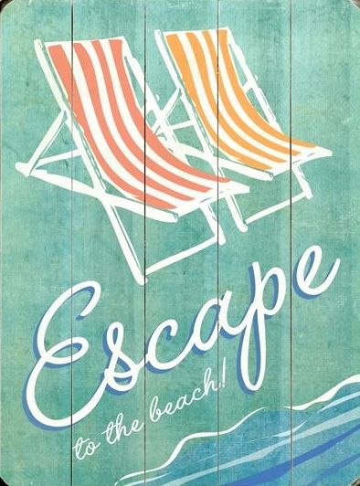 Escape to the beach... http://beachblissliving.com/vintage-beach-wood-signs/