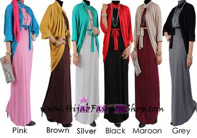 I like the grey and black, as well as the maroon/grey and maroon mustard. Hijab Fashion Shop - Set - Chic