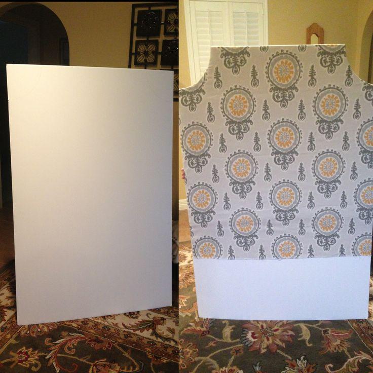 Buy foam board at hobby lobby, cut in shape you want, cover w fabric! Dorm room 10$ headboard!!