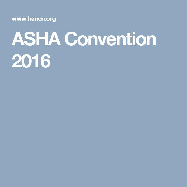 ASHA Convention 2016