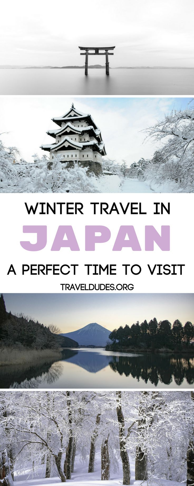 Japan is a completely underrated destination when it comes to winter travel. This guide includes eleven benefits of visiting Japan during winter. Fewer crowds, warm sake, snow monkeys and onsen hot springs are just a few! Travel to Japan. Travel Dudes Social Travel Community #Japan
