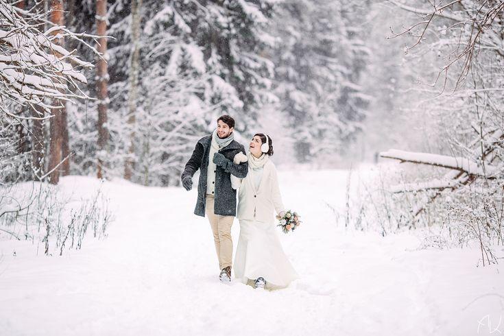 Образ невесты зимой