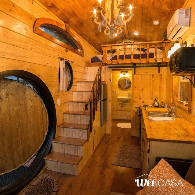 The Hobbit House: a stunning 170-sq-ft tiny house inspired by the works of J.R.R. Tolkien. Built by Incredible Tiny Homes and available at the WeeCasa Tiny House Resort!